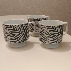 Coffee Mugs Zebra Print